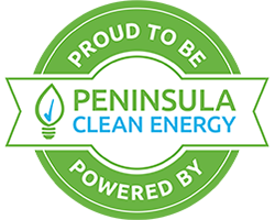 proud to be powered by Peninsula Clean Energy