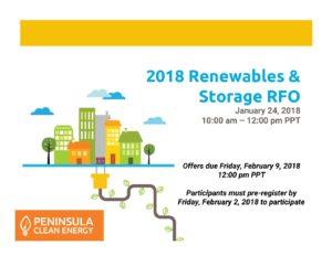 PCE 2018 Renewables RFO Webinar v2 – Peninsula Clean Energy