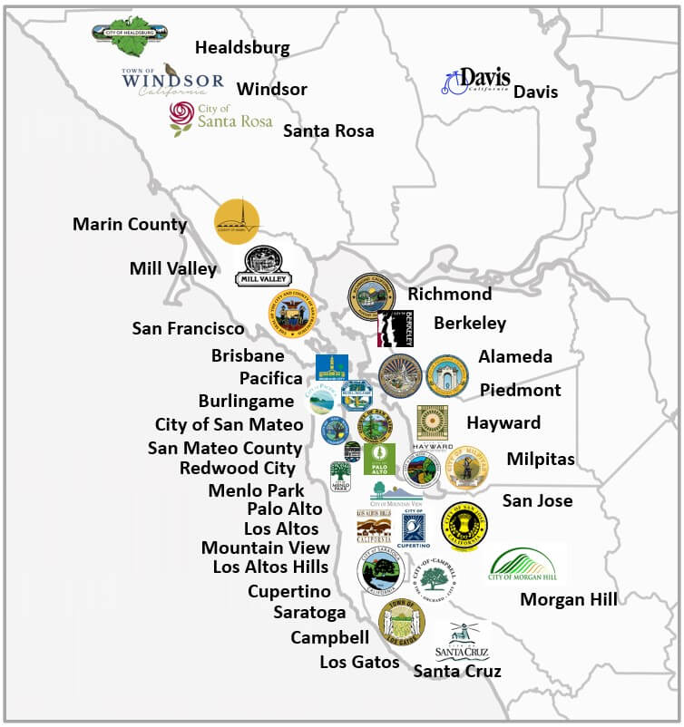 Northern California Jurisdictions with Decarbonized Reach Code